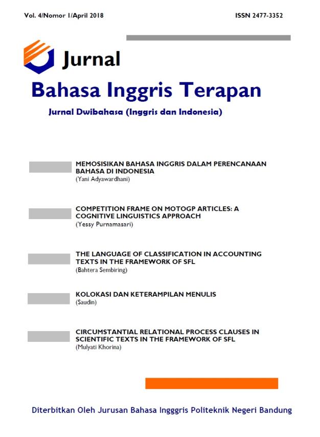Archives   JURNAL BAHASA INGGRIS TERAPAN (JOURNAL OF ...